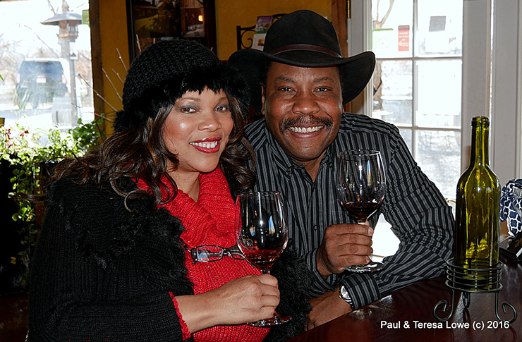 Teresa & Paul Lowe at Maison la Belle Vie Winery