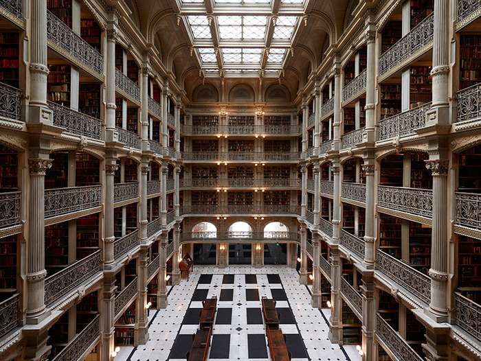 Peabody Institute library atrium