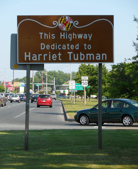 Harriet Tubman Byway sign