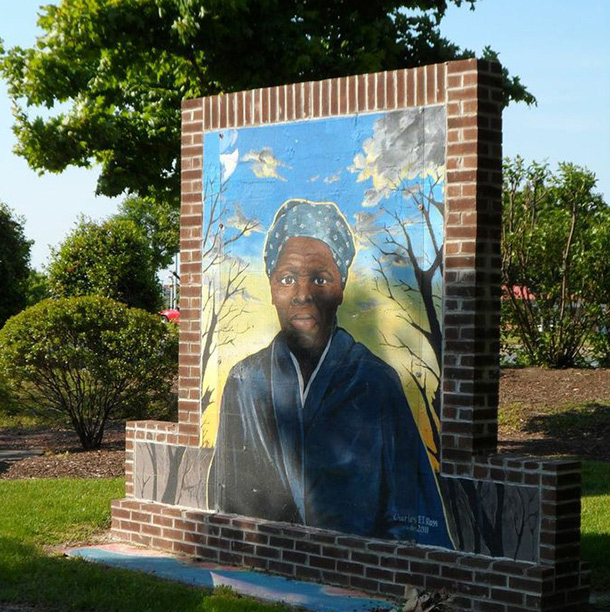 Harriet Tubman portrait sign
