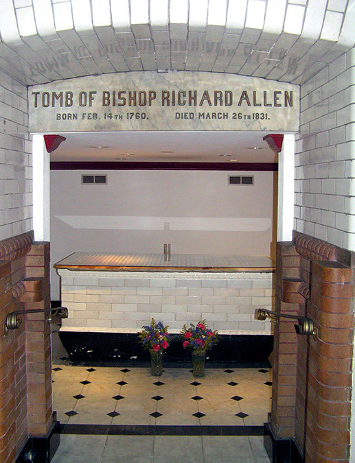 Richard Allen tomb at Mother Bethel AME Church