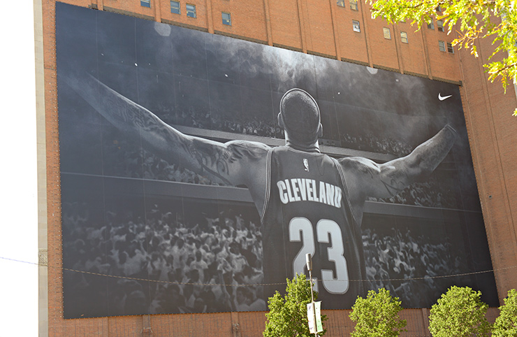 LeBron James returned to Cleveland
