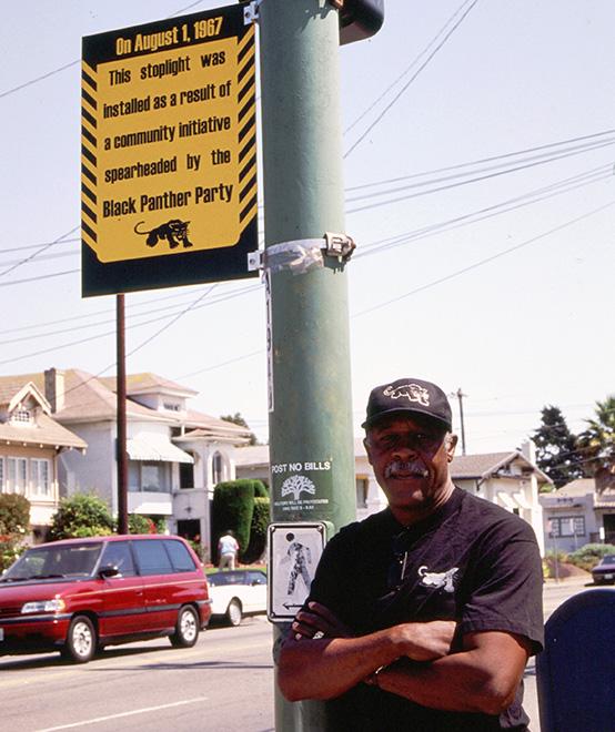 Black Panther Party stoplight marker