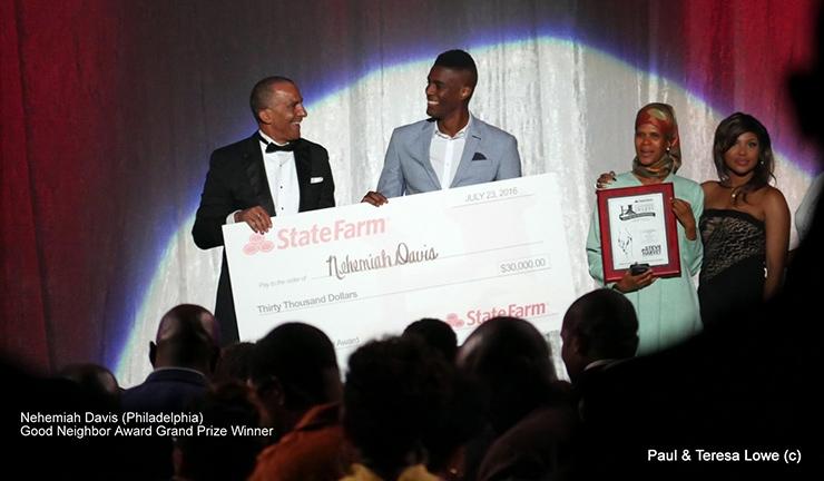 Nehemiah Davis wins Hoodie Award