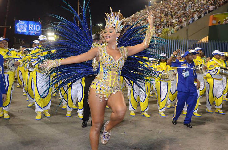 Unidos da Tijuca dancer at Sambadrome during Carnival