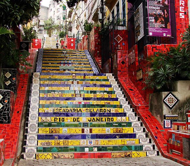 Selaron Stairs in Lapa, Rio de Janeiro
