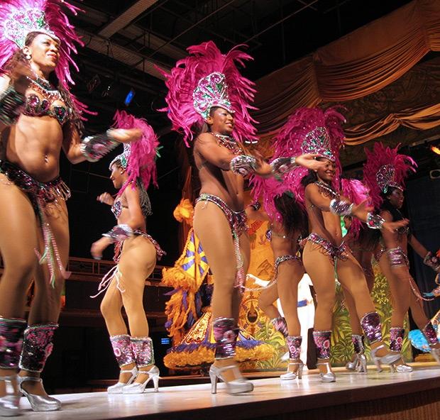 Samba dancers in Rio de Janeiro