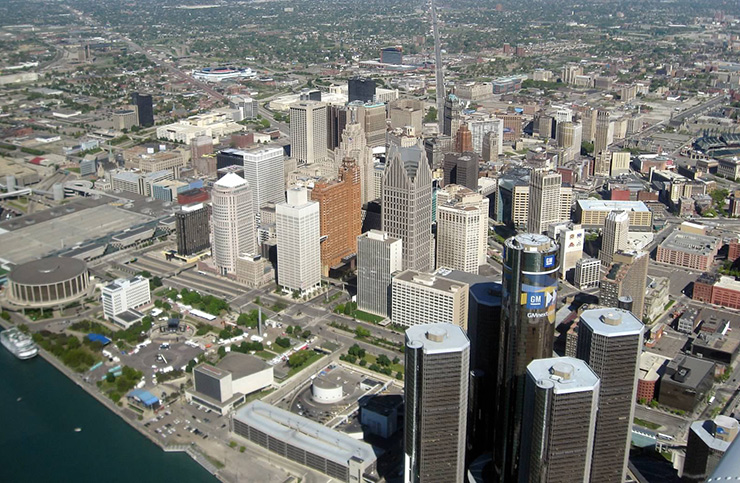 Detroit from above, Detroit Photos