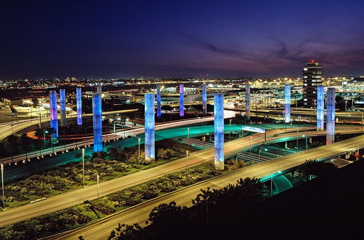 LAX Airport Lightshow
