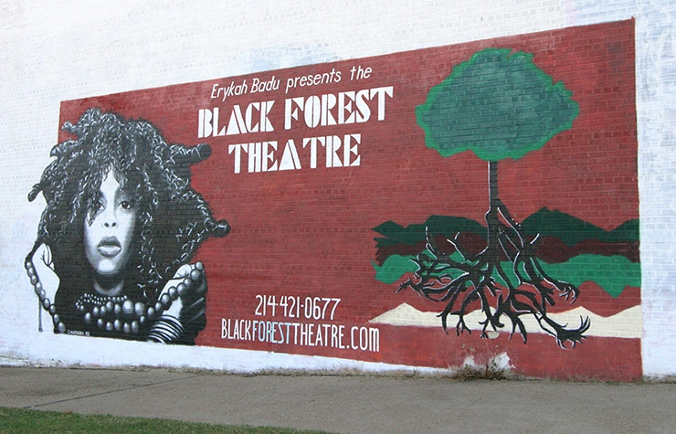Black Forest Theatre mural, Dallas Trivia