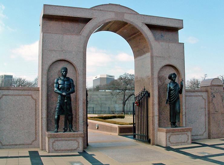 Freedman's Cemetery gate, Dallas Historic Sites