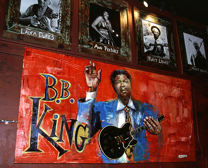 B.B. King Blues Club guitar, Memphis Restaurants
