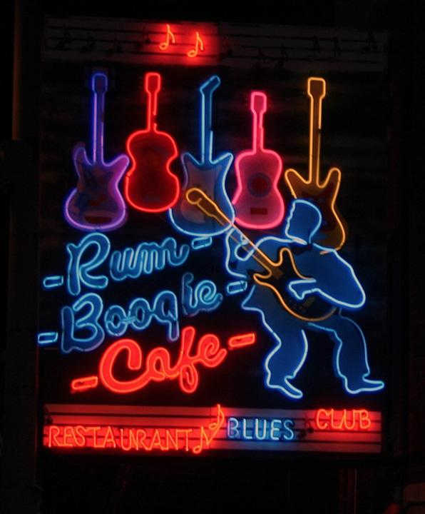 Rum Boogie marquee, Memphis Restaurants