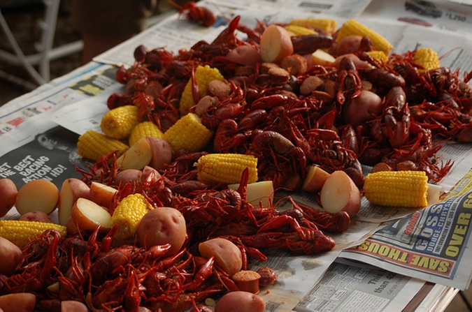 Memphis crawfish boil
