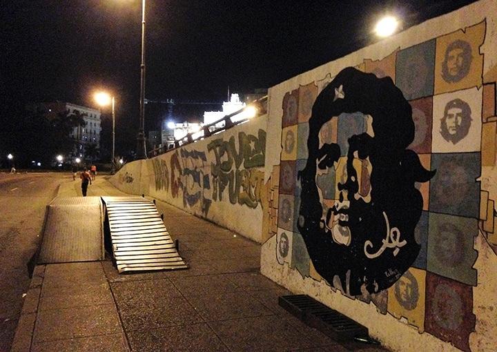 Che Guevara mural in Havana
