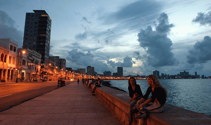 Havana Malecon at dusk