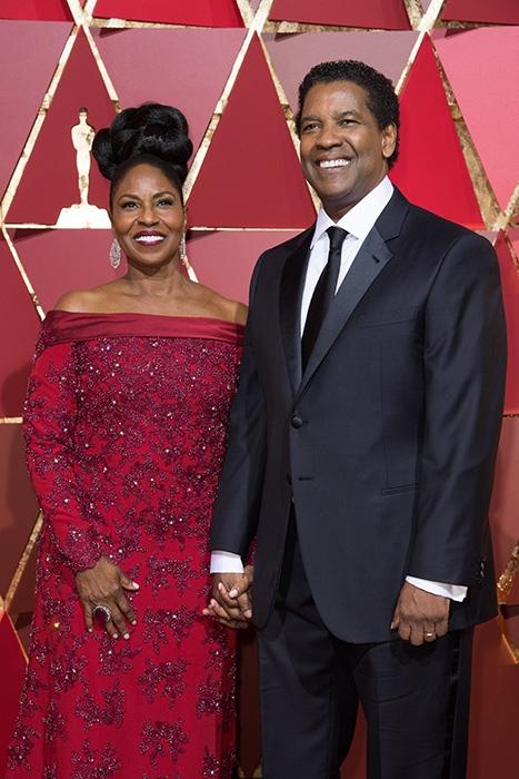 89th Oscars, Pauletta & Denzel Washington