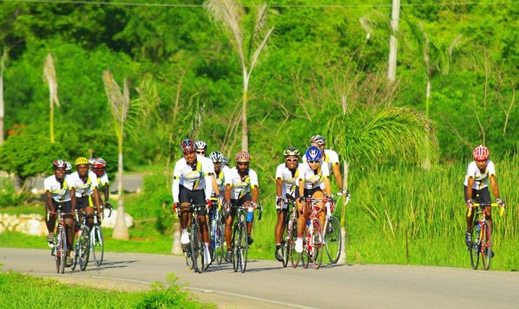 Riding near coastline, Jamaica Reggae Ride