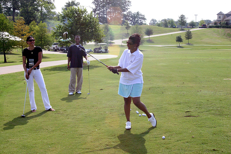 Ladies hitting the course at Olde Oaks