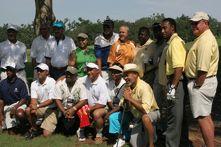 Golfers at City Park, New Orleans with Lt. Governor of Louisiana