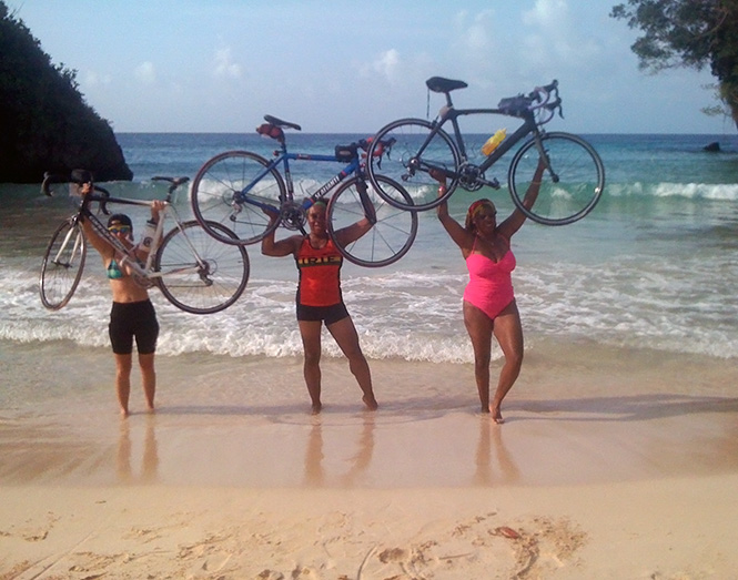 Bike lift at Frenchman Cove in Port Antonio, Jamaica
