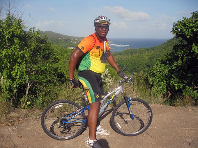 Roy Taylor enjoying Bike St. Lucia