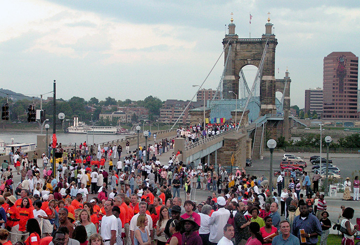 Major event on Roebling Suspension Bridge, Cincinnati Events