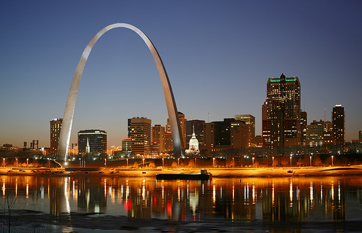 Gateway Arch at night, St. Louis Photos