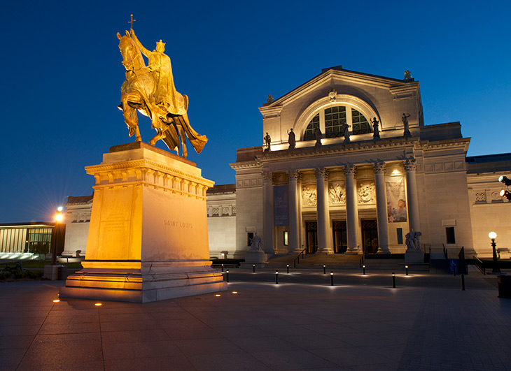 St. Louis Art Museum at night
