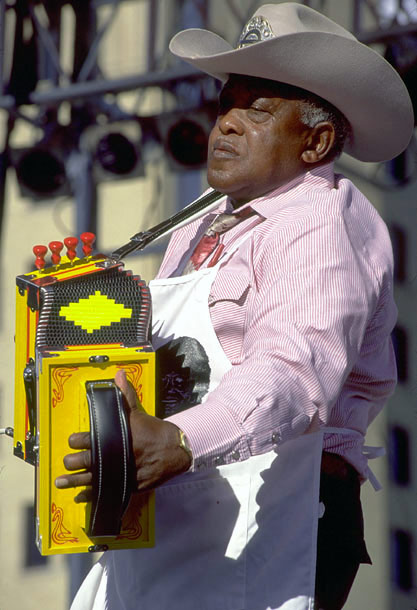 Clifton Chenier playing accordion, Zydeco Music