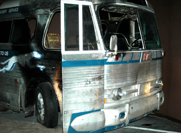 Burned-out bus, Birmingham History