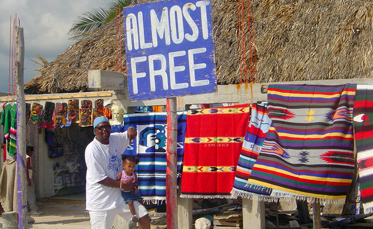 Almost free child, Cozumel