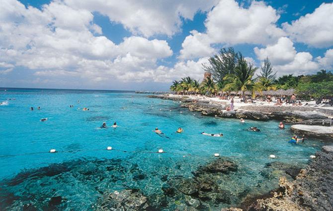 Snorkeling off Cozumel Beaches