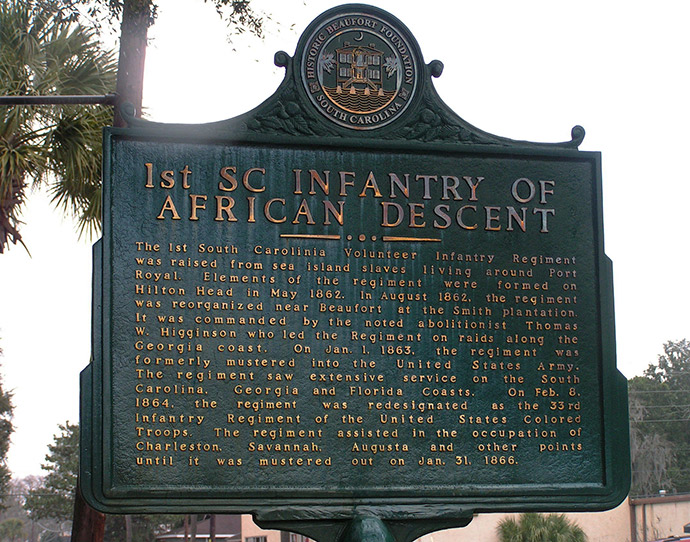 1st SC Infantry marker of African Descent, Beaufort
