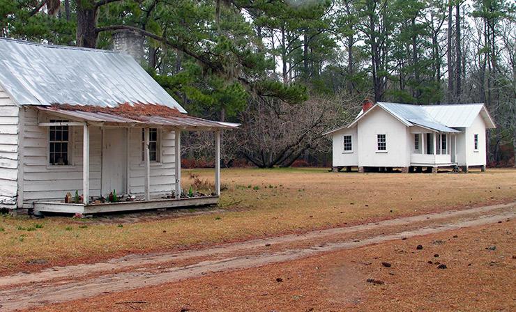Historic slave cabins, Georgetown