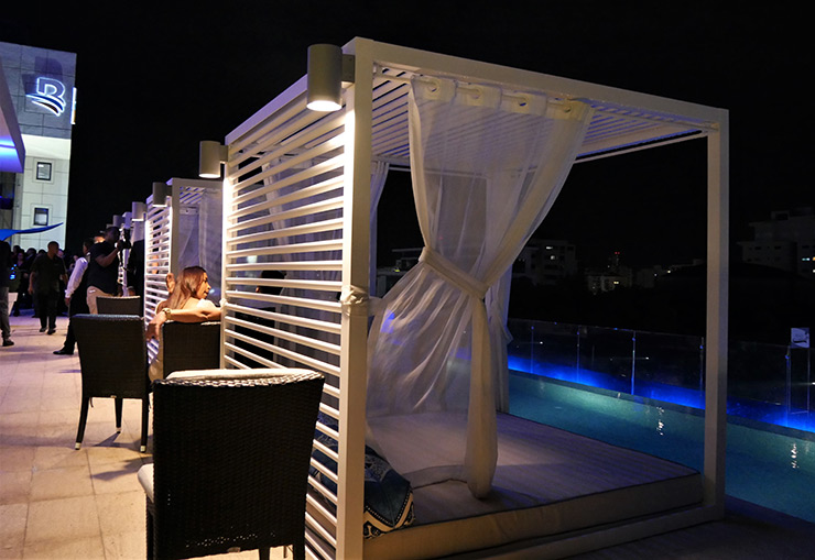 Cabanas at Hotel Intercontinental pool, Santo Domingo Hotels