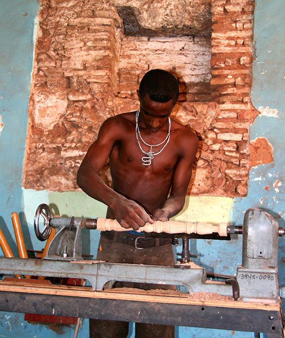 A factory furniture craftsman, Trinidad