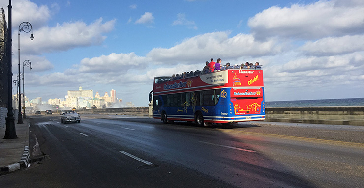 Havana Bus Tour on the Malecon