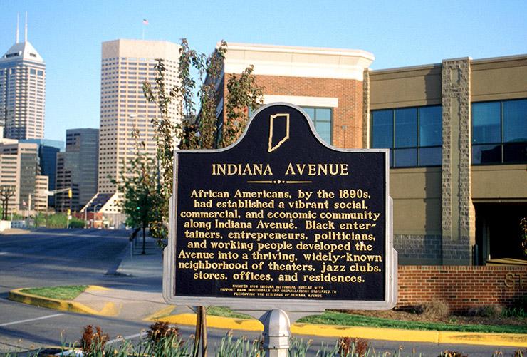 Indiana Avenue historic marker