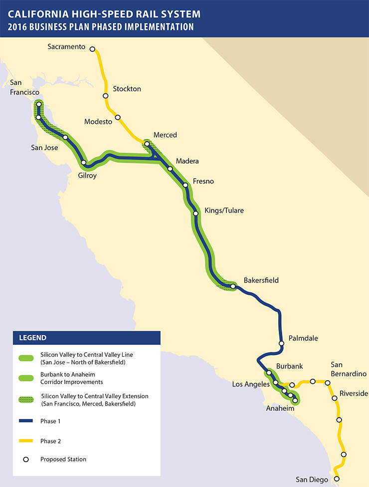 2016-18 CAHSR System Staging Map
