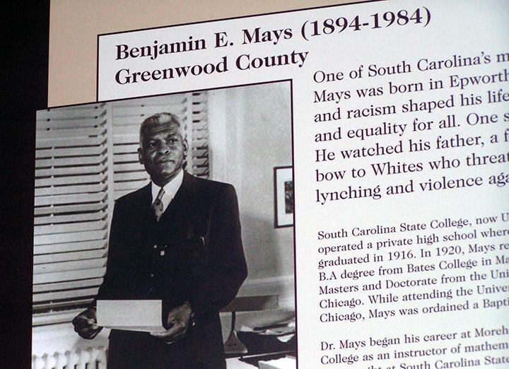 Dr. Benjamin Mays exhibit, Columbia Events