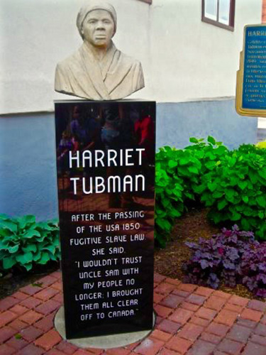Harriet Tubman at St. Catharines, Ontario