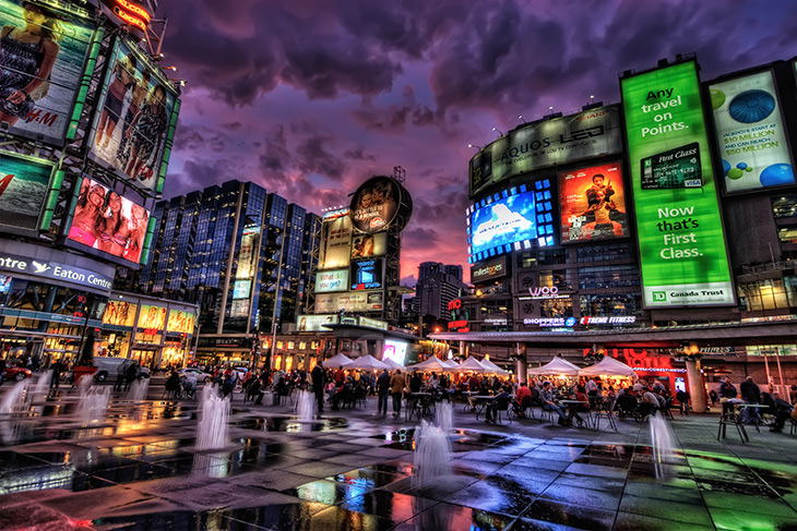 Yonge Dundas Square, Toronto A Global City
