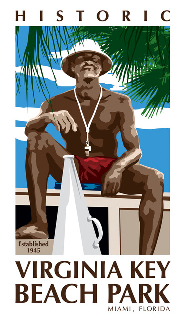 Virginia Key Beach Park lifeguard logo