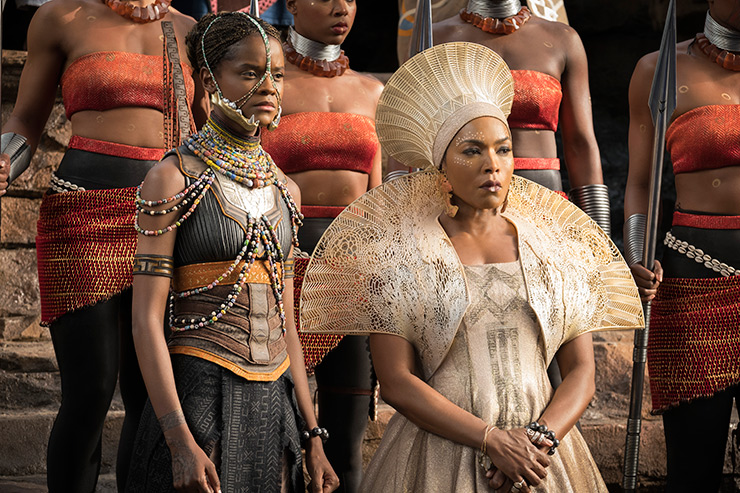 Costumes for Letitia Wright and Angela Bassett