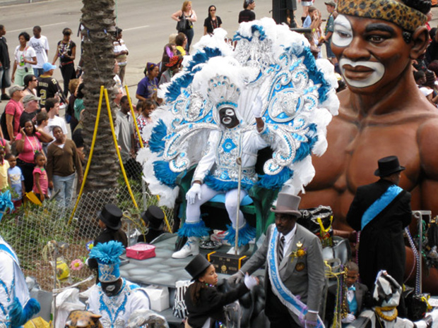 Zulu King float at Mardi Gras, New Orleans