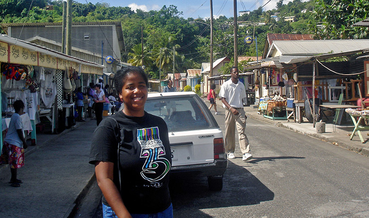 Sheila Umolu at Anse La Raye Village, St. Lucia Attractions