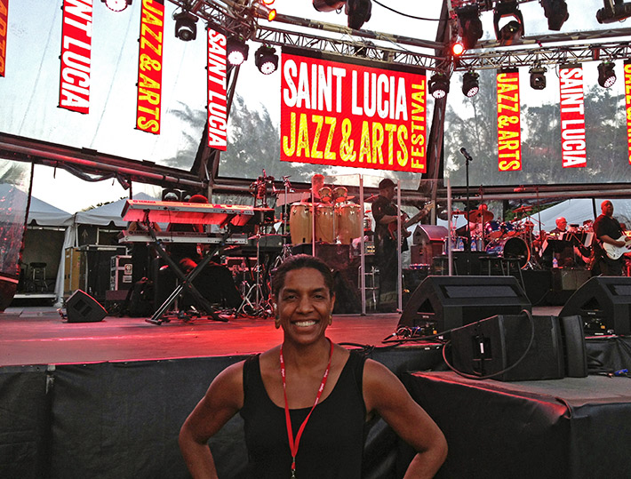 Jeanette Valentine at St. Lucia Jazz & Arts Festival
