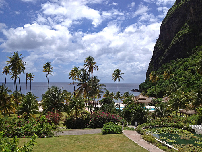 View from Sugar Beach Resort, St. Lucia