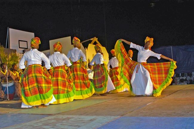 Dance team in Trinidad